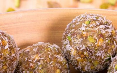 Bolitas energéticas de pistacho