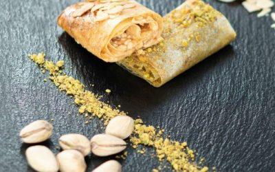 Dulces árabes saludables de frutos secos